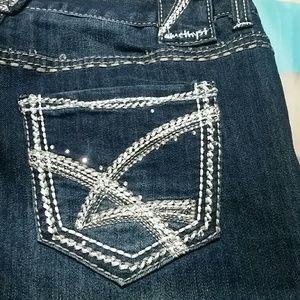 Amethyst Embellished Pocket Dark Wash Jeans